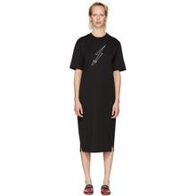 GIVENCHY | Givenchy Black Lightning Bolt World Tour T-Shirt Dress | Clouty