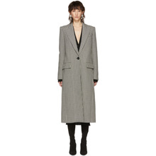GIVENCHY | Givenchy Black and White Houndstooth Single-Breasted Coat | Clouty