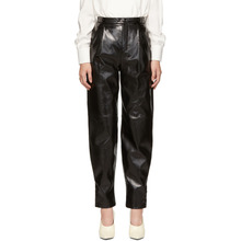 GIVENCHY | Givenchy Black Leather High-Waisted Trousers | Clouty
