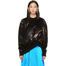 GIVENCHY | Givenchy Black Mohair Wave Sweater | Clouty