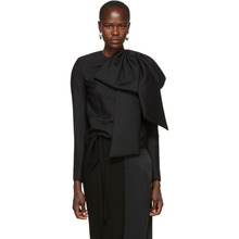 GIVENCHY | Givenchy Black Oversized Bow Blouse | Clouty