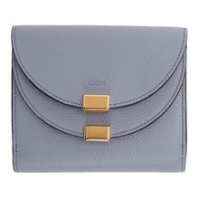 Chloé | Chloe Blue Square Georgia Flap Wallet | Clouty