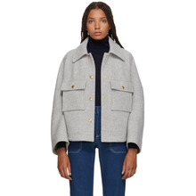 Chloé | Chloe Grey Loose Fit Shirt Jacket | Clouty