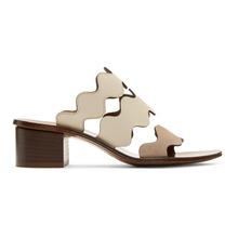 Chloé | Chloe Brown Wavy Three Strap Sandals | Clouty
