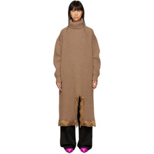 Balenciaga | Balenciaga Brown Turtleneck Dress | Clouty