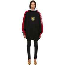 Balenciaga | Balenciaga Black and Red Logo Hoodie | Clouty