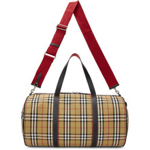 BURBERRY   Burberry Beige Large Kennedy Duffle Bag   Clouty