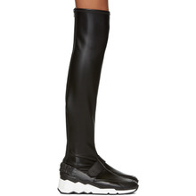 Pierre Hardy | Pierre Hardy Black Flash Comet Over-the-Knee Boots | Clouty