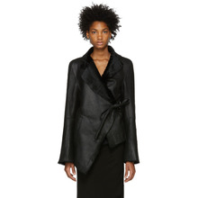 Ann Demeulemeester | Ann Demeulemeester Black Leather Amrita Jacket | Clouty