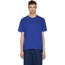 KENZO   Kenzo Blue Panelled Jersey T-Shirt   Clouty