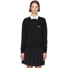 MAISON KITSUNÉ | Maison Kitsune Black Tricolor Fox Patch Sweater | Clouty