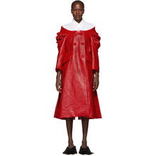 SIMONE ROCHA   Simone Rocha Red Crinkled Double-Breasted Dress   Clouty