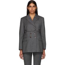 Altuzarra | Altuzarra Grey Pinstripe Millett Blazer | Clouty