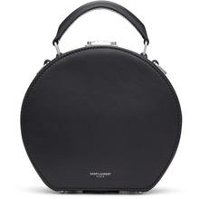 SAINT LAURENT | Saint Laurent Black Mica Small Hat Bag | Clouty