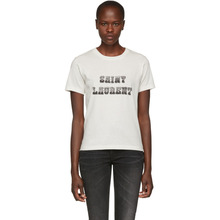 SAINT LAURENT | Saint Laurent White Western Logo T-Shirt | Clouty