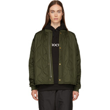6397 | 6397 Green Quilted Nylon Bomber Jacket | Clouty