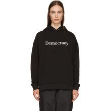 6397 | 6397 SSENSE Exclusive Black Democrazy Boy Hoodie | Clouty