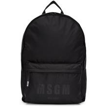 MSGM | MSGM Black Logo Backpack | Clouty