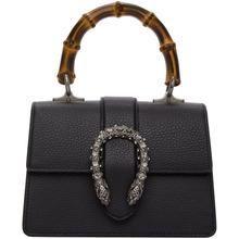 GUCCI | Gucci Black Mini Dionysus Top Handle Bag | Clouty