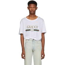GUCCI | Gucci White Logo T-Shirt | Clouty