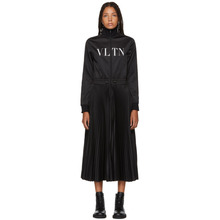 VALENTINO | Valentino Black Logo Jersey Dress | Clouty