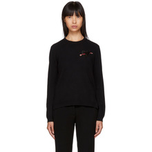 VALENTINO | Valentino Black Cashmere Heart Sweater | Clouty
