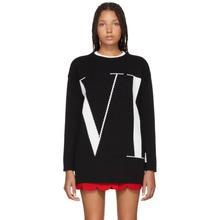 VALENTINO | Valentino Black Cashmere Logo Sweater | Clouty