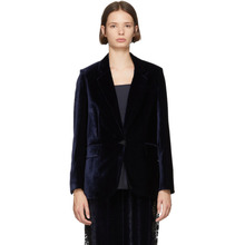 Stella McCartney | Stella McCartney Navy Fluid Velvet Blazer | Clouty