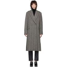Stella McCartney   Stella McCartney Black and White Wool Herringbone Coat   Clouty