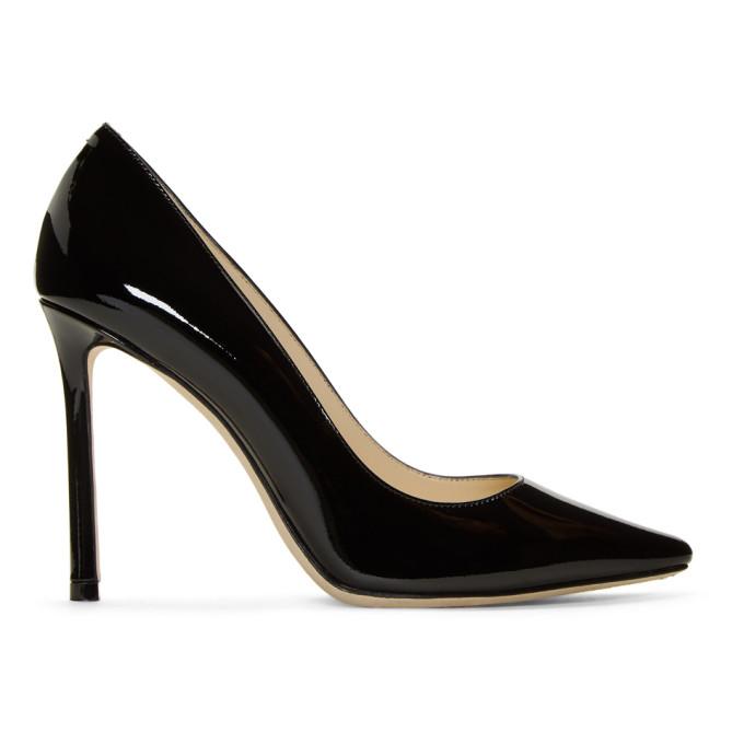 Jimmy Choo   Jimmy Choo Black Patent Romy 100 Heels   Clouty