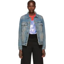 Off-White | Off-White Blue Denim Gradient Jacket | Clouty