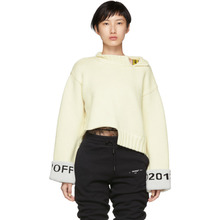 Off-White | Off-White White Cuff Over Crewneck Sweater | Clouty