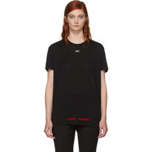 Off-White | Off-White SSENSE Exclusive Black Cherry Flower Oversized T-Shirt | Clouty