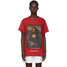 Off-White | Off-White Red Diagonal Monalisa T-Shirt | Clouty