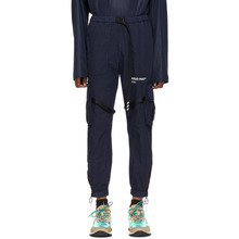 Off-White | Off-White Navy Parachute Cargo Pants | Clouty