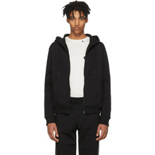 Off-White | Off-White Black Striped Zip Hoodie | Clouty
