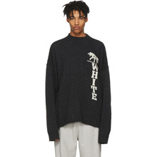 Off-White | Off-White Grey Panther Distressed Sweater | Clouty