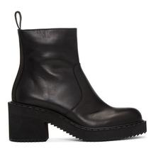 Jil Sander Navy   Jil Sander Navy Black Heeled Boots   Clouty