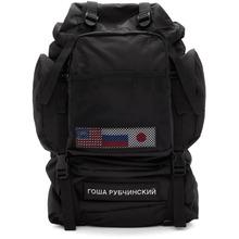 Гоша Рубчинский | Gosha Rubchinskiy Black Medium Backpack | Clouty