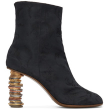 VETEMENTS | Vetements Black Geisha Coin Ankle Boots | Clouty