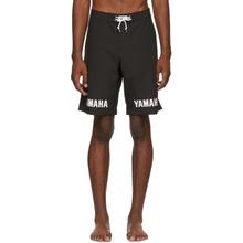 John Elliott | John Elliott Black Yamaha Edition Logo Swim Shorts | Clouty