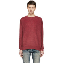 John Elliott | John Elliott Red Brushed Crewneck Sweater | Clouty