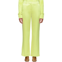 Sies Marjan | Sies Marjan Yellow Satin Tatum Trousers | Clouty