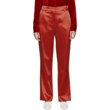 Sies Marjan | Sies Marjan Red Tatum Satin Straight Leg Trousers | Clouty