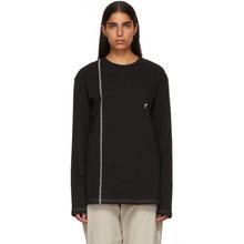 A-Cold-Wall* | A-Cold-Wall* Black Bracket Logo Cut Line T-Shirt | Clouty