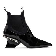 PRADA | Prada Black Patent Leather Boots | Clouty