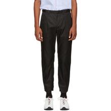 PRADA | Prada Black Nylon Gabardine Trousers | Clouty