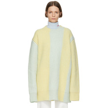 Calvin Klein | Calvin Klein 205W39NYC Yellow and Green Oversized Sweater | Clouty