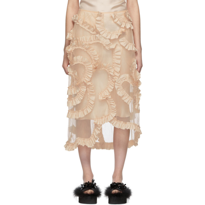 Moncler Genius   Moncler Genius 4 Moncler Simone Rocha Beige Floral Skirt   Clouty