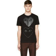 Comme Des Garçons Play   Comme des Garcons Play Black Two Hearts T-Shirt   Clouty
